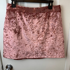 NWT Topshop Rose Gold Crushed Velour Mini Skirt.10